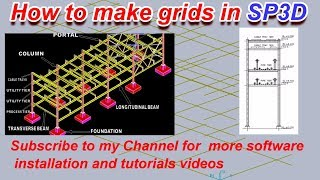 #SP3D Traning tutorials :- How to make grids in SP3D || Rectangular Gride
