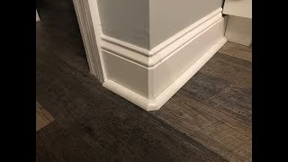 Install Round Baseboard On Square Corners