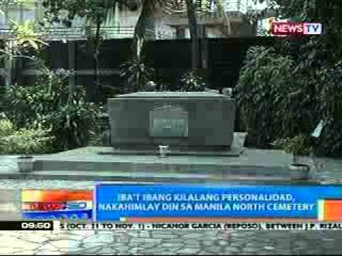 Famous people who buried in Manila North Cemetery