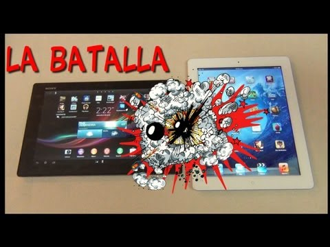 Comparativa tabletas Sony XPeria Z VS Apple iPad 4