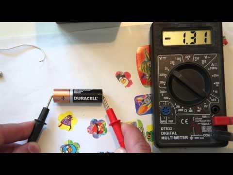 Видео как проверить полярность мультиметром