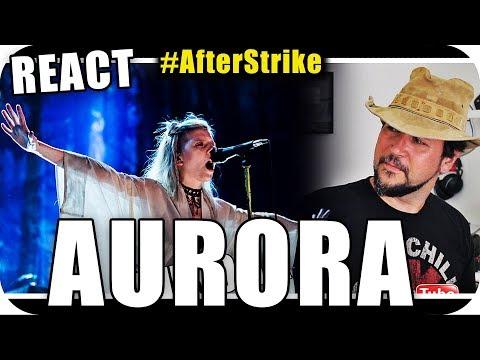 AURORA VOZ DE ANJO - Marcio Guerra Canto Reagindo Music Live React Reação #AfterStrike
