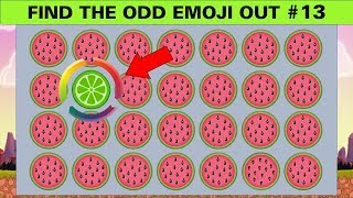 Find The Odd Emoji Out #13   Spot The Difference Brain Games for Kids