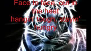 eyes of the tiger letra.(CANCION DE ROCKY)