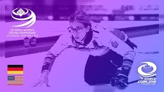 Germany v United States round robin LGT World Women's Curling Championships 2019