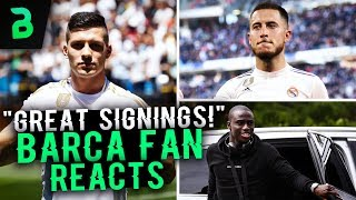 BARCA FAN REVIEWS REAL MADRID TRANSFERS! ft. Mendy, Jovic, Hazard, Rodrygo, Militao | BugaLuis