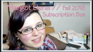 Margot Elena Subscription Box // Fall 2018