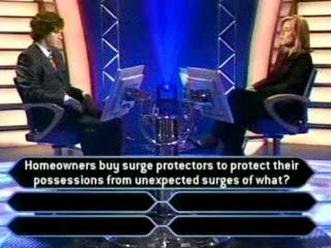 First Question Wrong On Who Wants To Be A Millionaire video