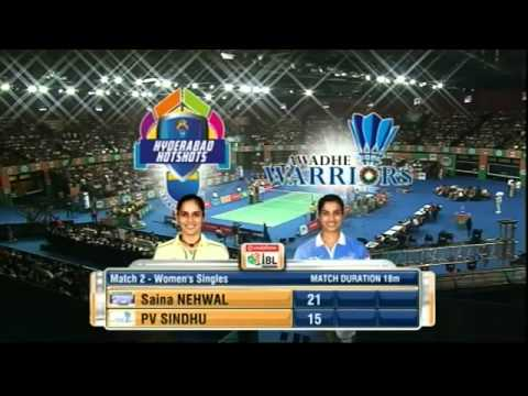 Saina Nehwal Vs PV Sindhu | Women's Singles | Hyderabad Hotshots Vs Awadhe Warriors 2013 | Final