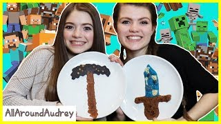Minecraft Pancake Art Challenge 2! Learn How To Make DIY Minecraft Pancakes!/ AllAroundAudrey