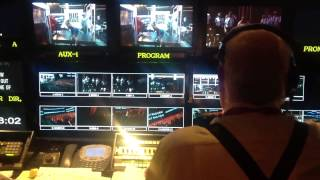 '13 Emmys. Truck view of Louis J. Horvitz in action directing the surprise choreography number.