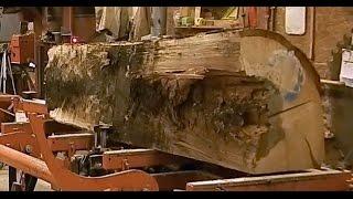 Family With Wood-Mizer Mills Oak Split by Black Powder Pt2