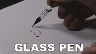 .~~°  Glass Dip Pen Drawing ° ~~. (& grinding my own ink)
