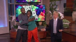 Ellen and tWitch Try Out 'Just Dance 2014' on ellen show