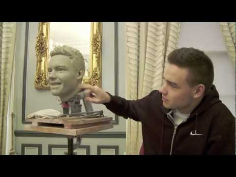 Sculpting Liam Payne from One Direction at Madame Tussauds London