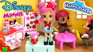 Disney Happy Places Minnie Mouse Kitchen Dottie Cakes Makes Cupcakes LOL Surprise Doll