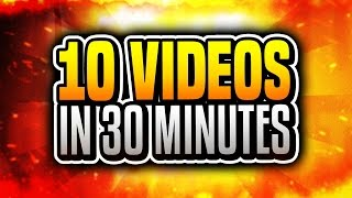 10 VIDEOS IN 30 MINUTES!? ( Minecraft Funny Videos & Moments w/ TheCampingRusher )