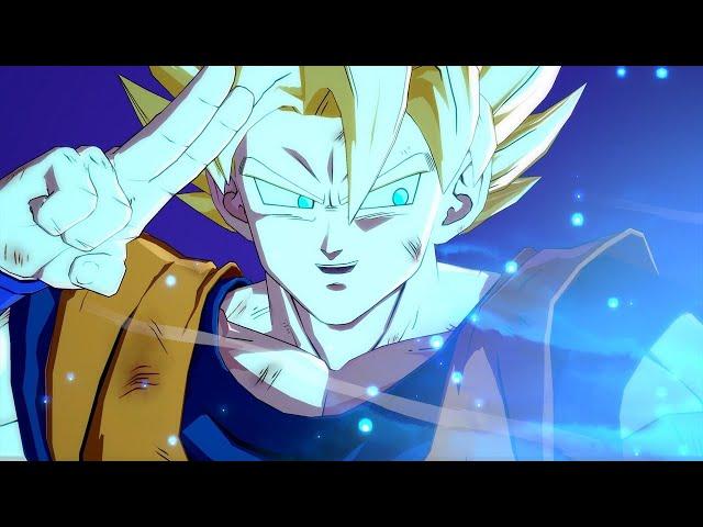 Dragon Ball FighterZ Easter Egg - Goku Defeats Kid Buu With Giant Spirit Bomb