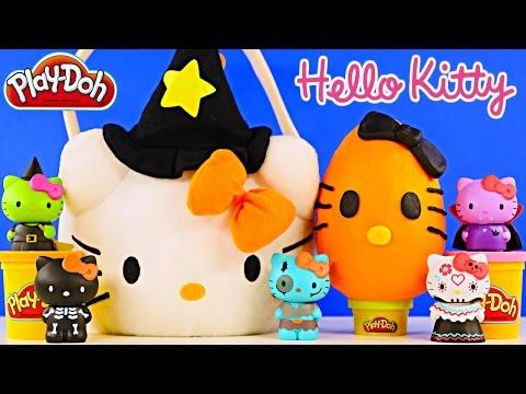 HELLO KITTY SURPRISE BASKET - Play Doh Egg Mermaid Princess Pets Sofia MLP LPS Peppa Pig Toys