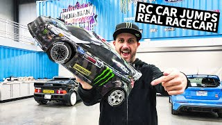 Ken Block's 1/8 Scale RC Shred Session... Around Real Racecars!