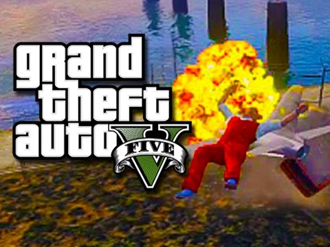 Gta 5 Online Funny Moments! - Frozen! video