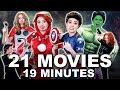 AVENGERS 101 Everything YOU NEED TO KNOW    Merrell Twins (MCU) Featuring Brie Larson | Karen Gillan