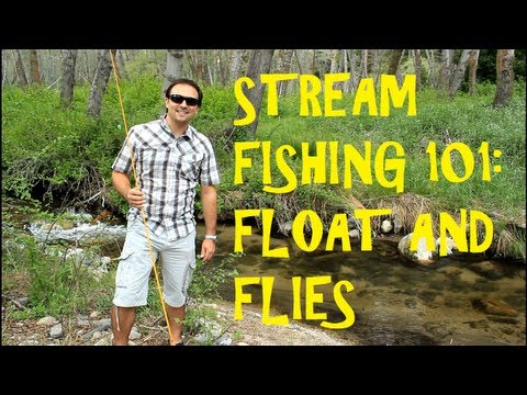 How to: Stream Fishing with Spinning Reel and Flies Below a Float for Wild Trout