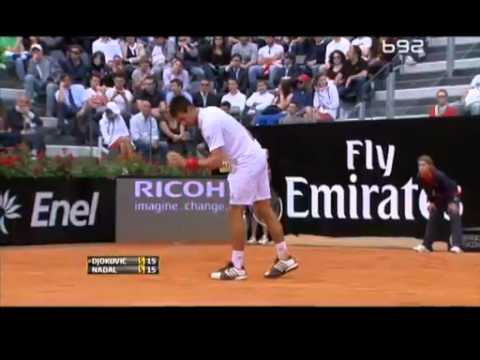 Rafael Nadal vs. Novak Djokovic - ATP Rome 2012 (7:5 ; 6:3) (Full Match)