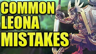 THE MOST COMMON LEONA MISTAKES!  || Leona Coaching Season 8