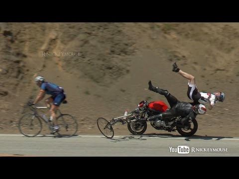 Shocking Motorcycle Crash into Bicycles 4/27/2013