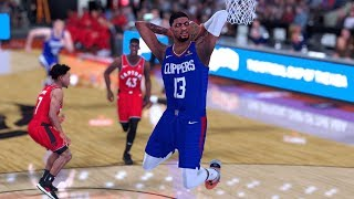 NBA 2K19 - Los Angeles Clippers vs. Toronto Raptors - Full Gameplay (Updated Rosters)