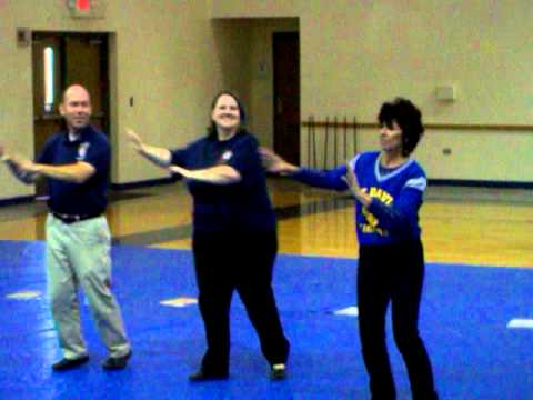 Teachers dancing (spirit week)