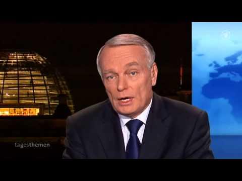 Premier ministre Jean-Marc Ayrault parle allemand
