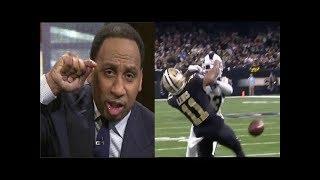 Stephen A. Smith reacts Rams BEAT Saints