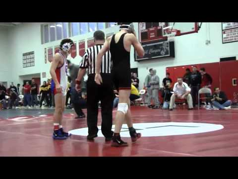 Malik Amine (Catholic Central) vs Ian Stirton (Northville) semi-finals match ...