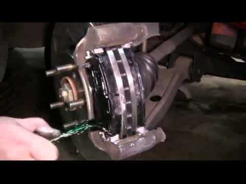 How To Replace The Front Brake Pads And Rotors On A 2003