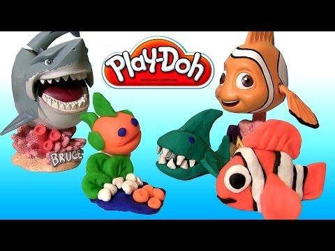 Play Doh Makeables Sea Life Set Disney Pixar Finding Nemo Shark Bruce Turtle by Disneycollector
