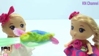 Thơ Nguyễn - Trổ tài làm kẹo dẻo màu sắc cho Búp bê ăn