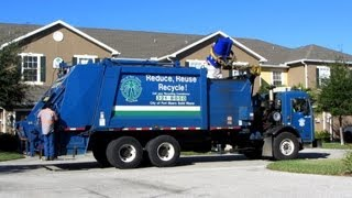 RARE - Ft. Myers Heil MultiPack Recycling Truck (in action) 11-23-12