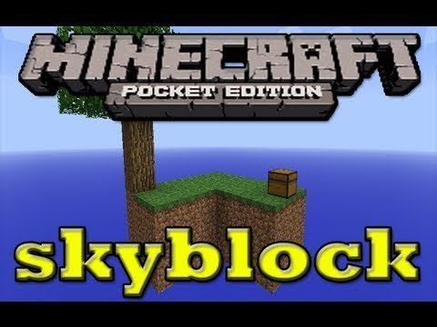 Minecraft Pocket Edition Skyblock Part 1