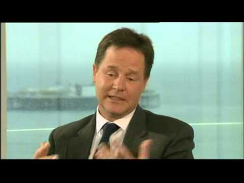Nick Clegg reaction on - The Apology Song - I'm Sorry