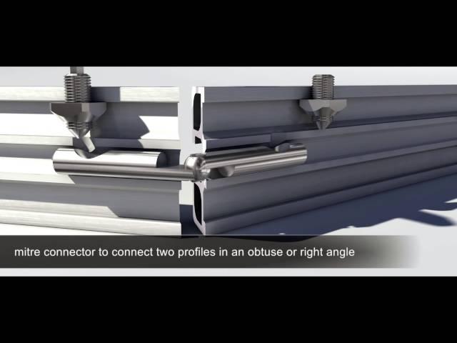 MiniTec muestra como unir perfiles de aluminio con su unión