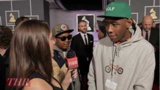 Grammys 2013: Tyler, the Creator Admires Chandeliers, Takes