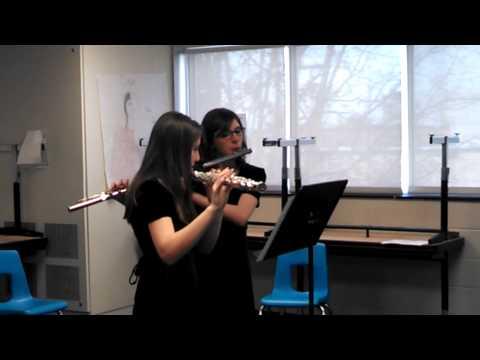 2014-01-25 Marisa MSBOA District Alto/Bass flute duet