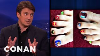Nathan Fillion: Superhero Toenail Artiste