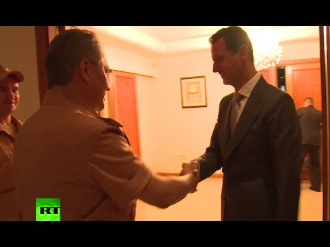 RAW: Russian defense minister meets Assad, inspects Khmeimim airbase in Syria
