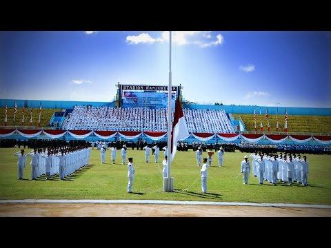 Peringatan Hut Ri Ke-69 Di Stadion Kanjuruhan - Kab. Malang video