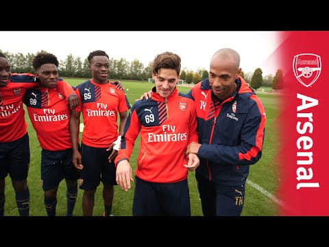 Thierry Henry presents the Arsenal U19 skills challenge