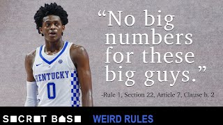 The NCAA limits basketball jersey numbers with a rule that makes sense until you think about it
