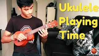 Ukulele Playing Birthday tune, Bangla Baul tune and some other tunes in boring time.